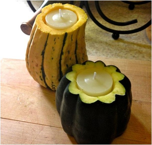 Really cute pupkin candle holders.