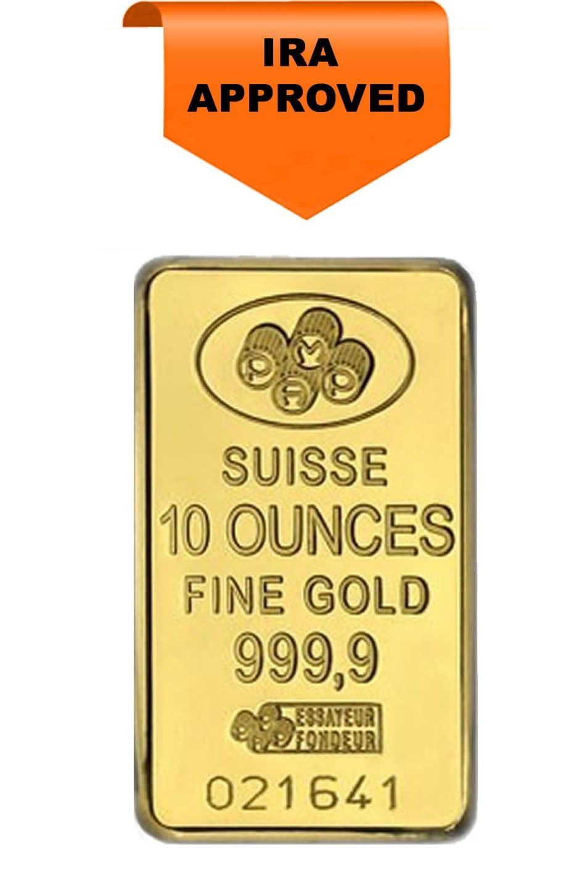 Pamp Suisse 24 Karat 10 Oz Gold Bar Gold Bullion Bars Gold Investments Gold Bullion