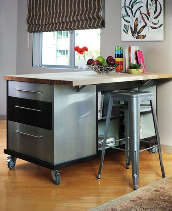 Traditional Kitchen Island, Mobile