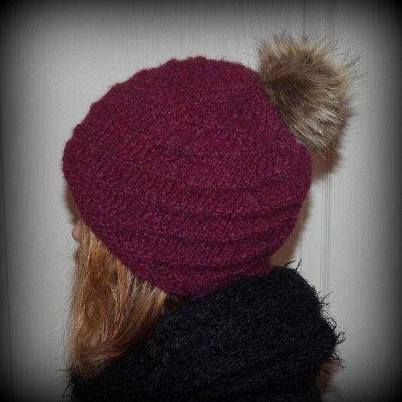 Bonnet tricoté main pour femmes