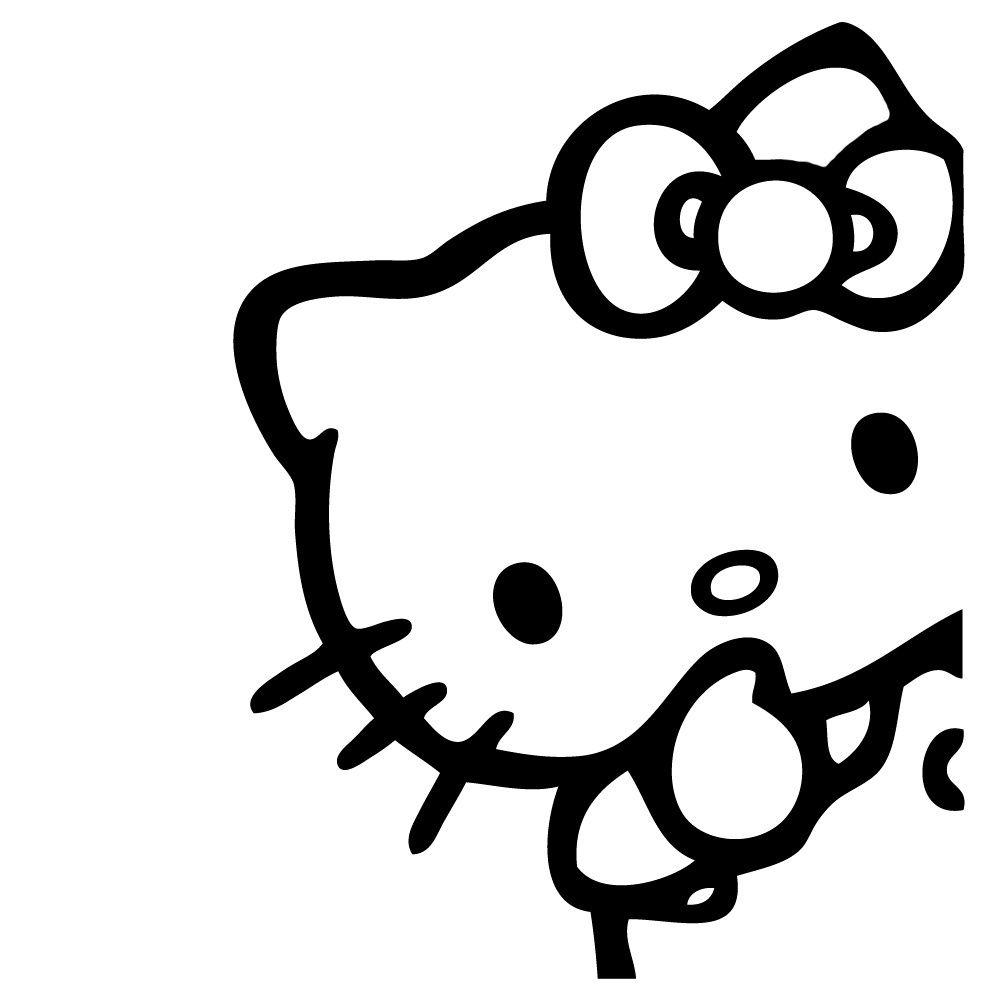 Hello Kitty Peeking Corner Vinyl Sticker Decal Cute Sanrio Jdm Choose Hello Kitty Car Hello Kitty Car Accessories Hello Kitty Images [ 1000 x 1000 Pixel ]