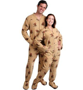 3f4d1575c07c Is it more sad that they make adult size Sock Monkey footie pajamas ...