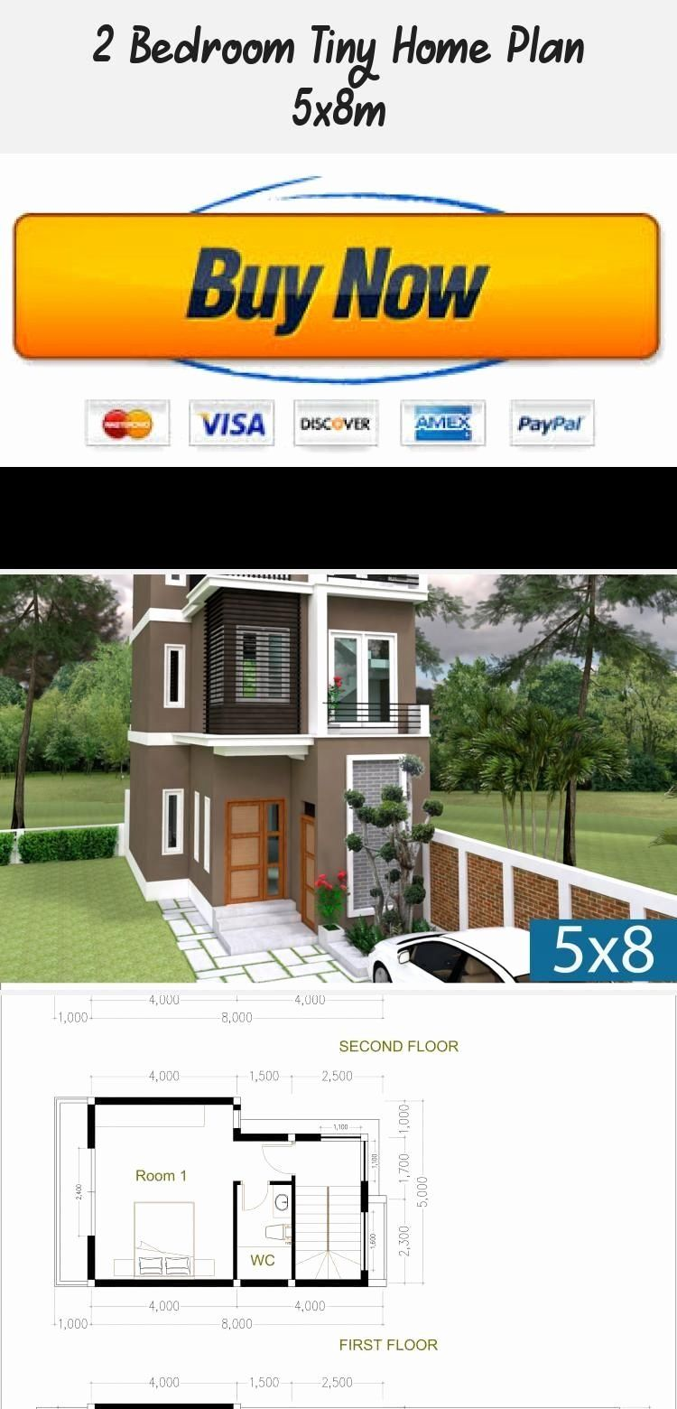 Tiny Brick House Plans Luxury 2 Bedroom Tiny Home Plan 5x8m Samphoas Plansearch In 2020 House Plans Unique House Plans Tiny House Plans