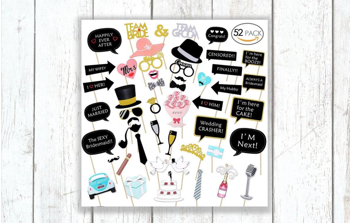 Foto Booth Accessoires Paket L Hochzeit Spiele Hochzeitsspiele Hochzeitsuberraschungen