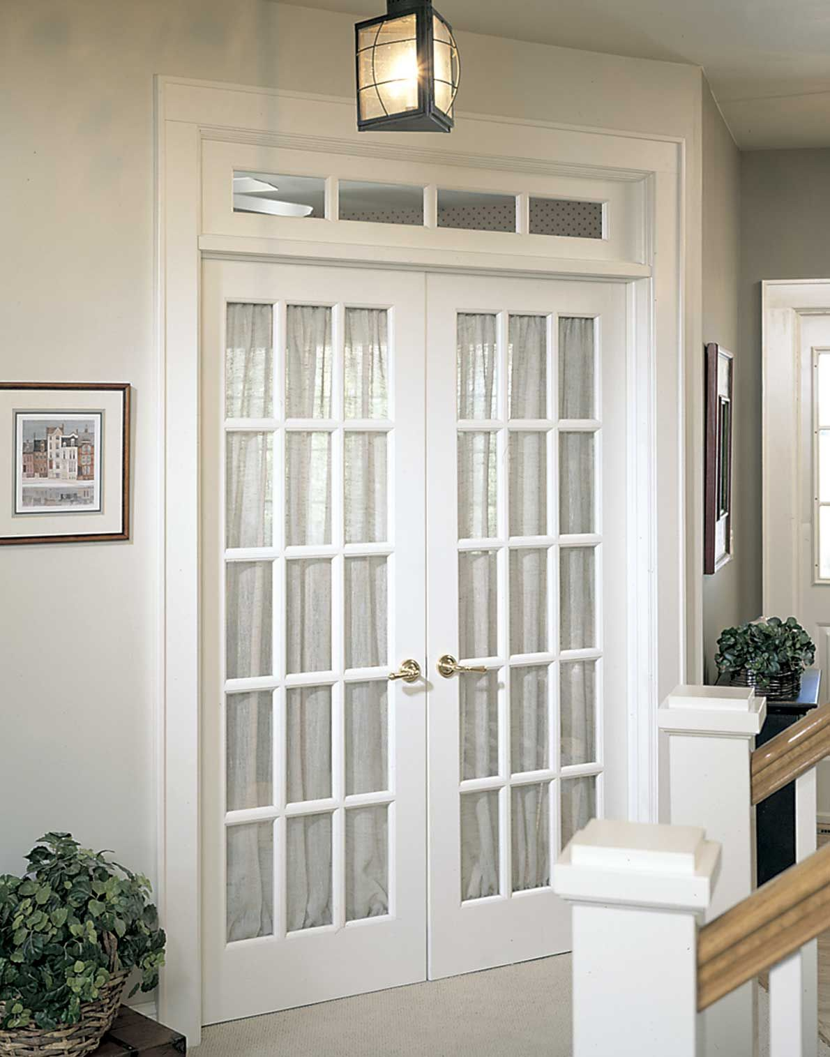 Another nice French door configuration. French doors