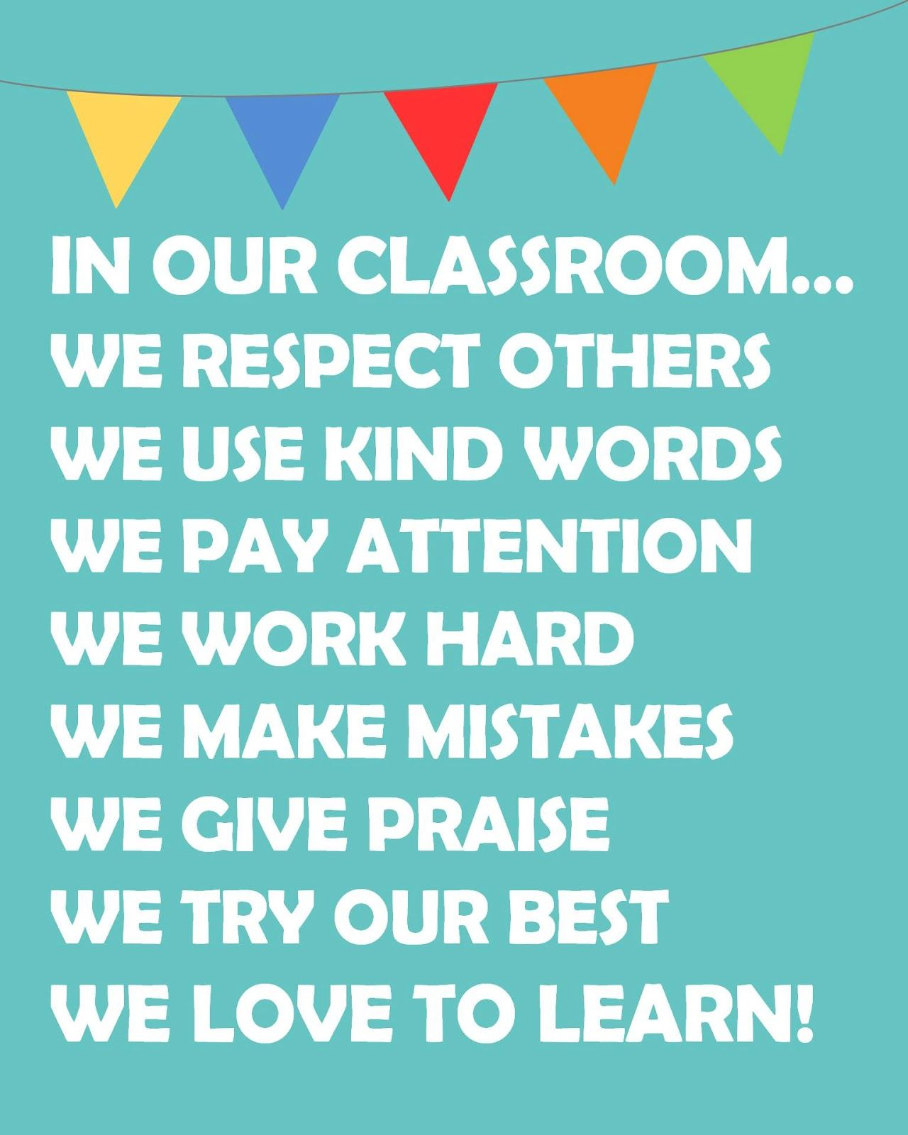 Classroom Rules Poster Free Printable