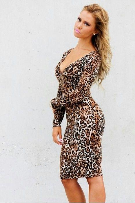 Sexy cheetah print dress