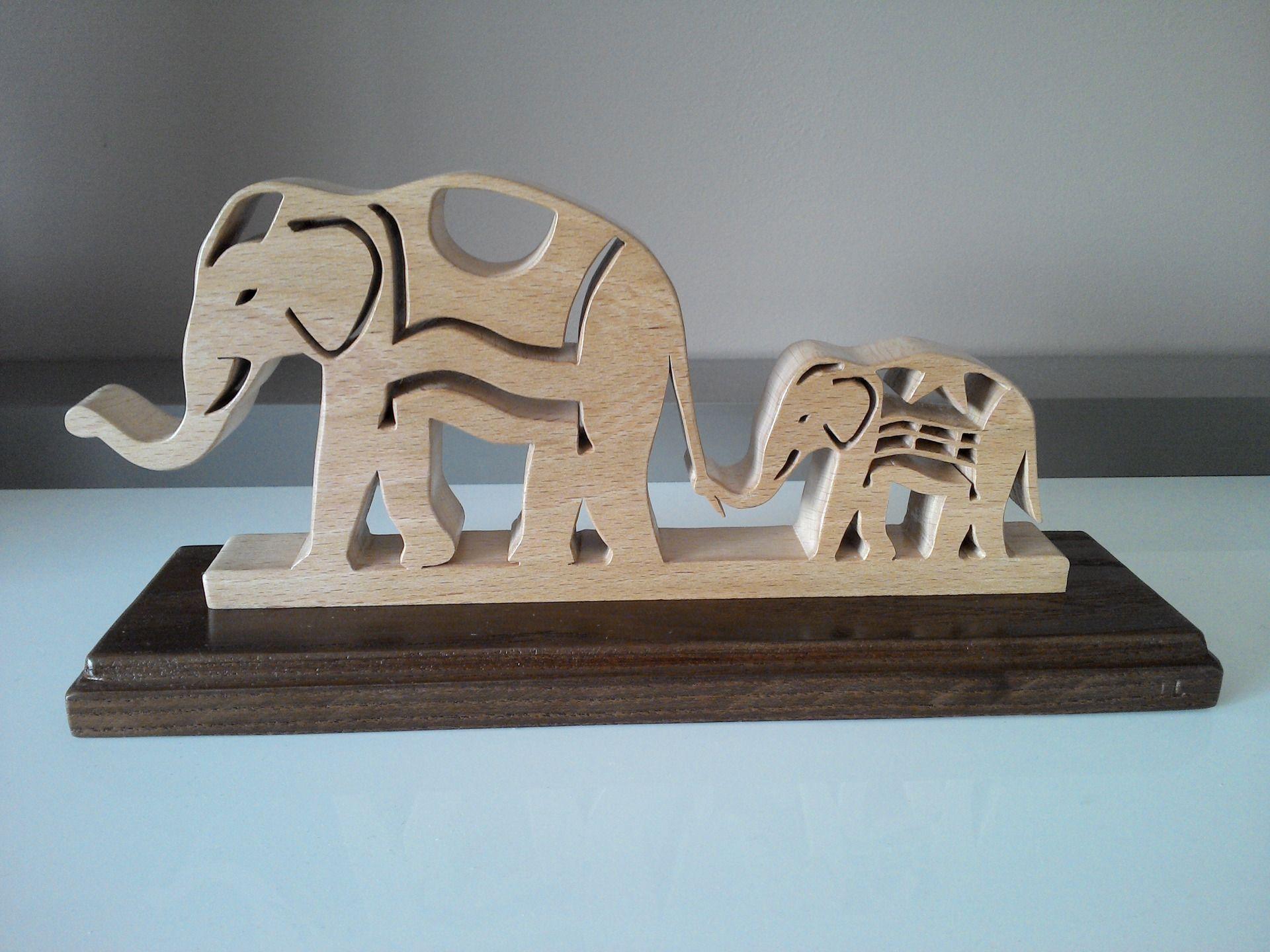 el phants en bois sculpt s en chantournage laubs ge pinterest hout. Black Bedroom Furniture Sets. Home Design Ideas