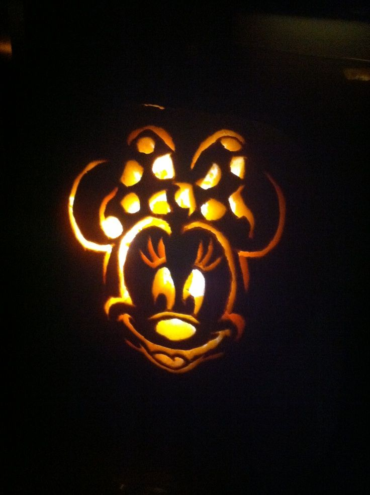 minnie mouse pumpkin carving halloween pinterest