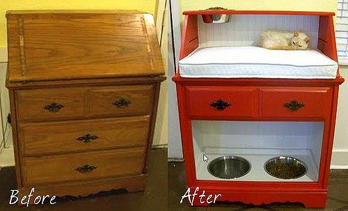 Old Secretary Turned Pet Station   I was given this old secr…   Flickr