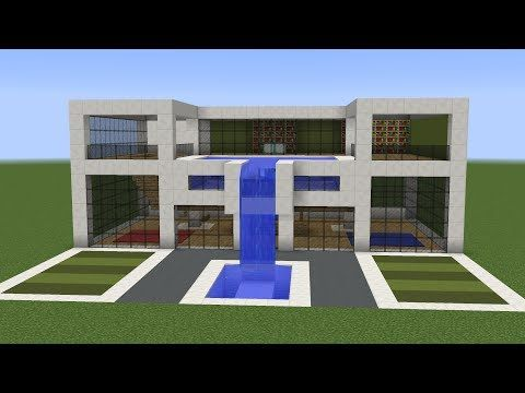 A new tutorial on how to build a cool modern house in Minecraft  This building features rooftop swimming pool waterfall and green spaces How 11 Stream