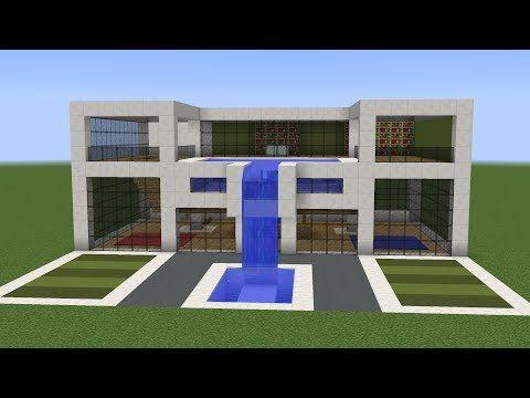Minecraft  How to build a modern house 11   Minecraft ...