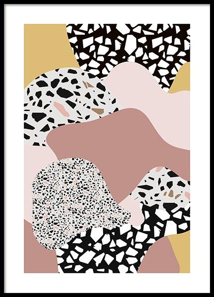 Terrazzo Collage No2 Poster In 2020 Terrazzo Poster Prints Modern Art Prints