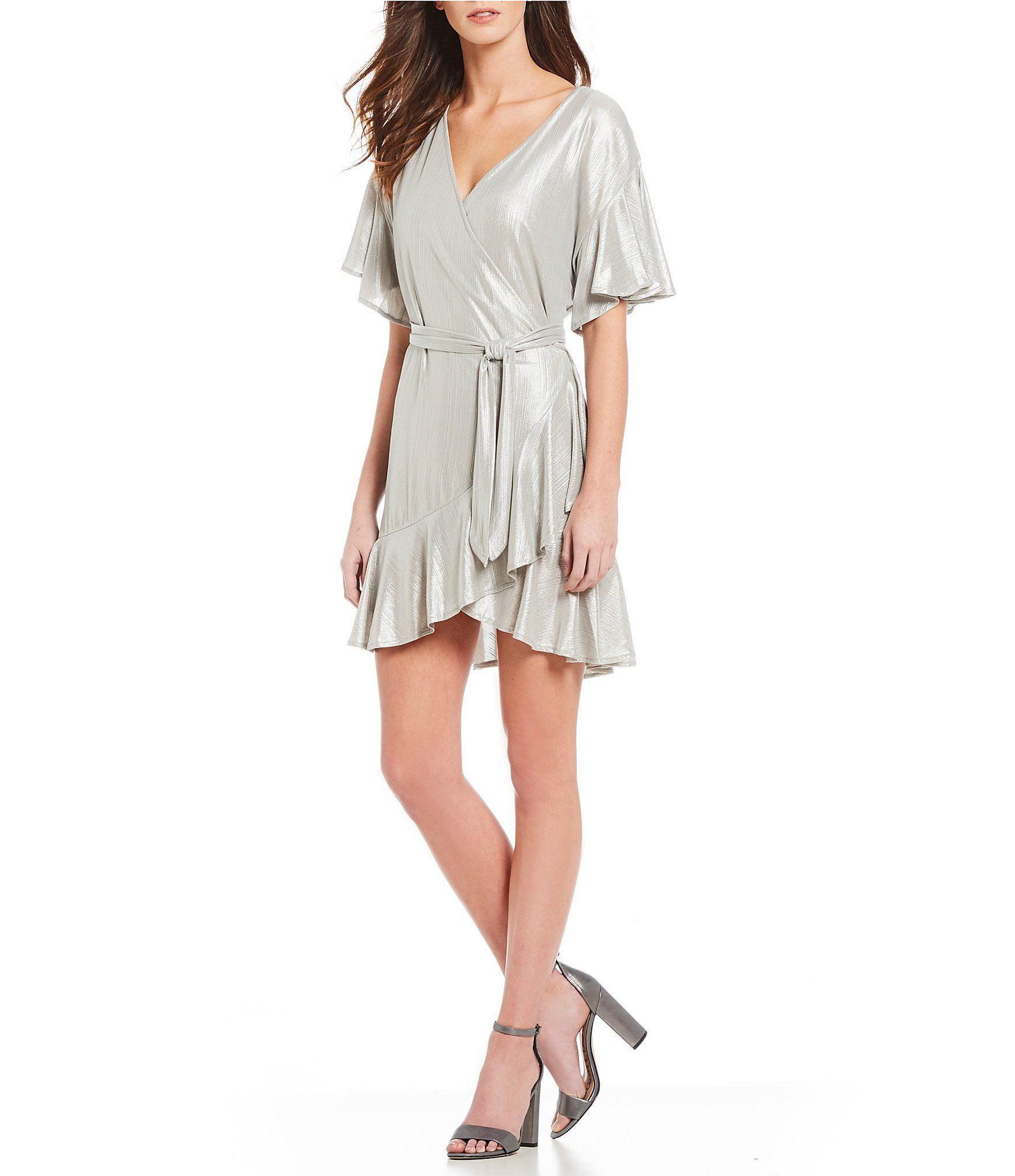 14ec2b16dcd Shop for BB Dakota Moon Dance Metallic Wrap Dress at Dillards.com. Visit  Dillards
