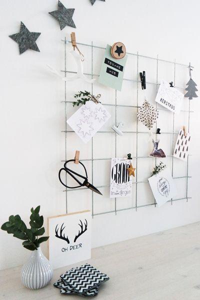 Gray Silver Wire Wall Grid Mesh Memo Board By BiletinShop