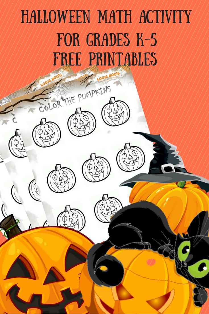 Halloween Math Activity Color The Pumpkins Logicroots Halloween Math Activities Halloween Math Fun Halloween Math [ 1102 x 735 Pixel ]