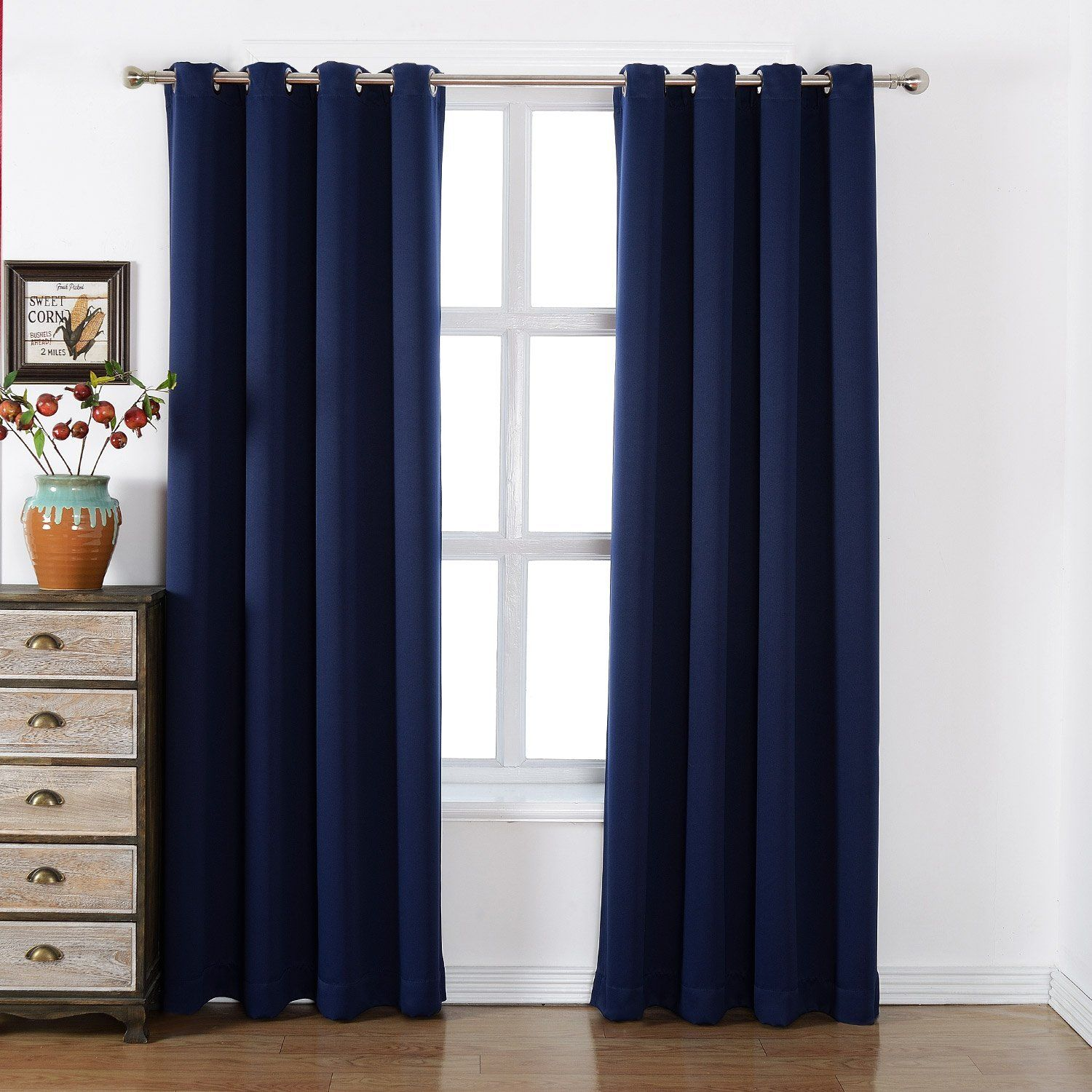 blackout pair curtains burgandy insulated co dp thermal uk solid kitchen curtain amazon length home
