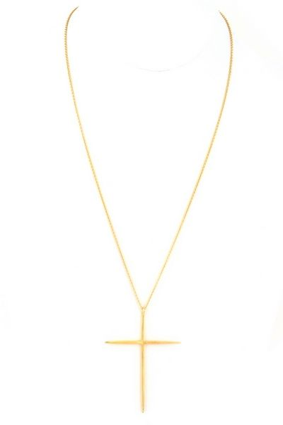Metal cross pendant necklace length 30 2 extension pendant metal cross pendant necklace length 30 2 extension pendant drop aloadofball Image collections
