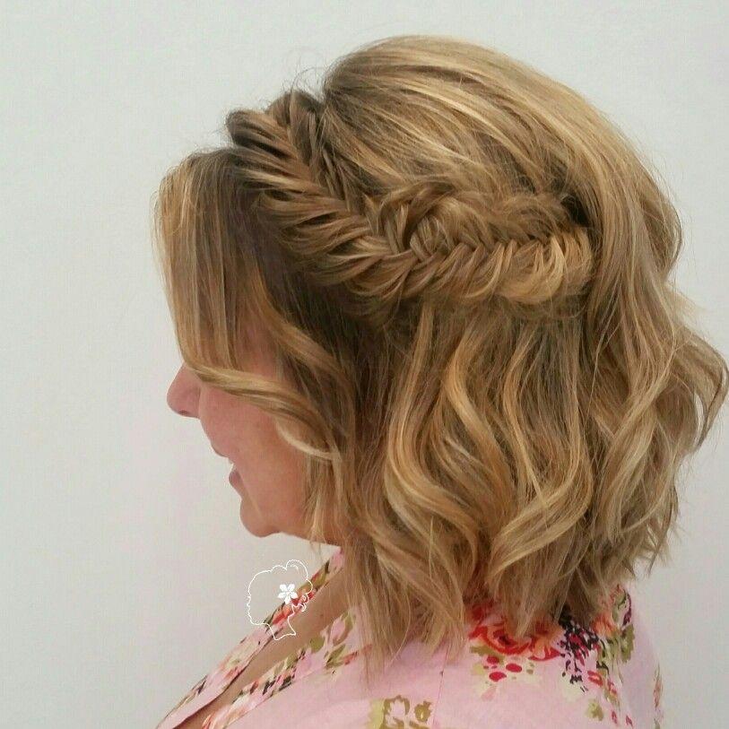 Fishtail Braid Short Hair Bridesmaid Braids For Short Hair Bridesmaid Hair Short Fish Tail Braid