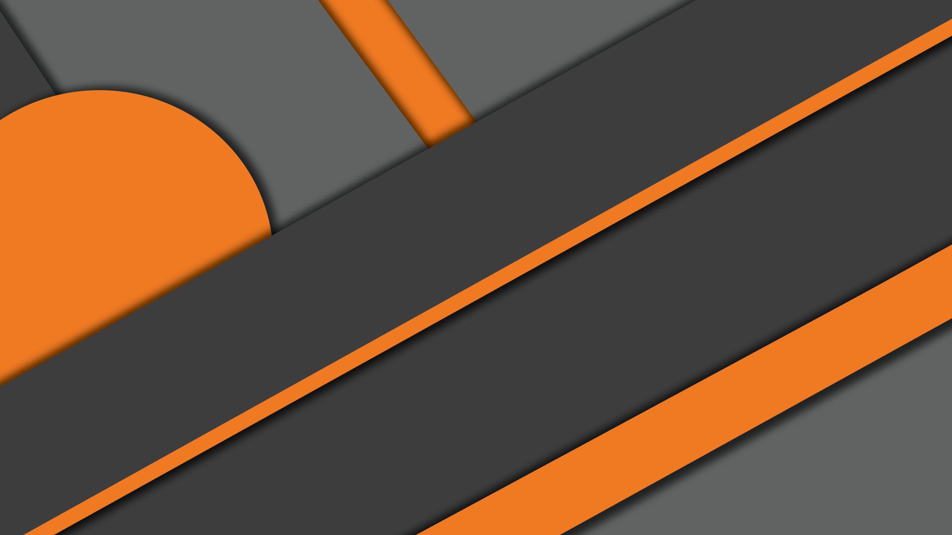 Orange Material [1920x1080]