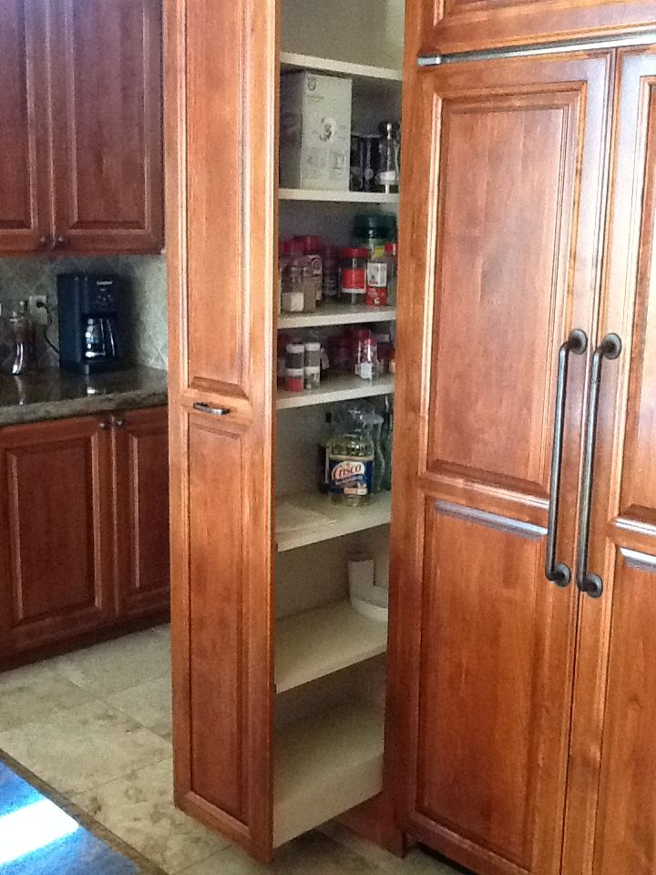 12 Wide Pull Out Pantry Home N Decor Tall Cabinet Storage Kitchen Remodel