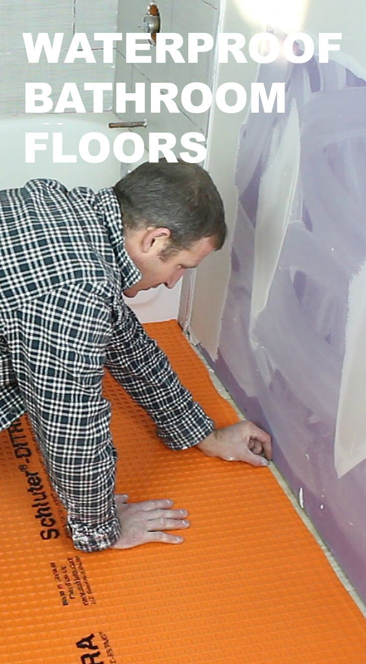 Beautiful Learn How To Waterproof A Bathroom Floor And Prevent Mold Problems...great  Tips