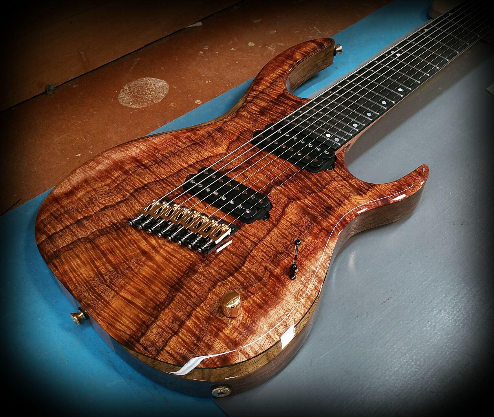 kiesel guitars carvin guitars km8 k series multiscale flamed koa