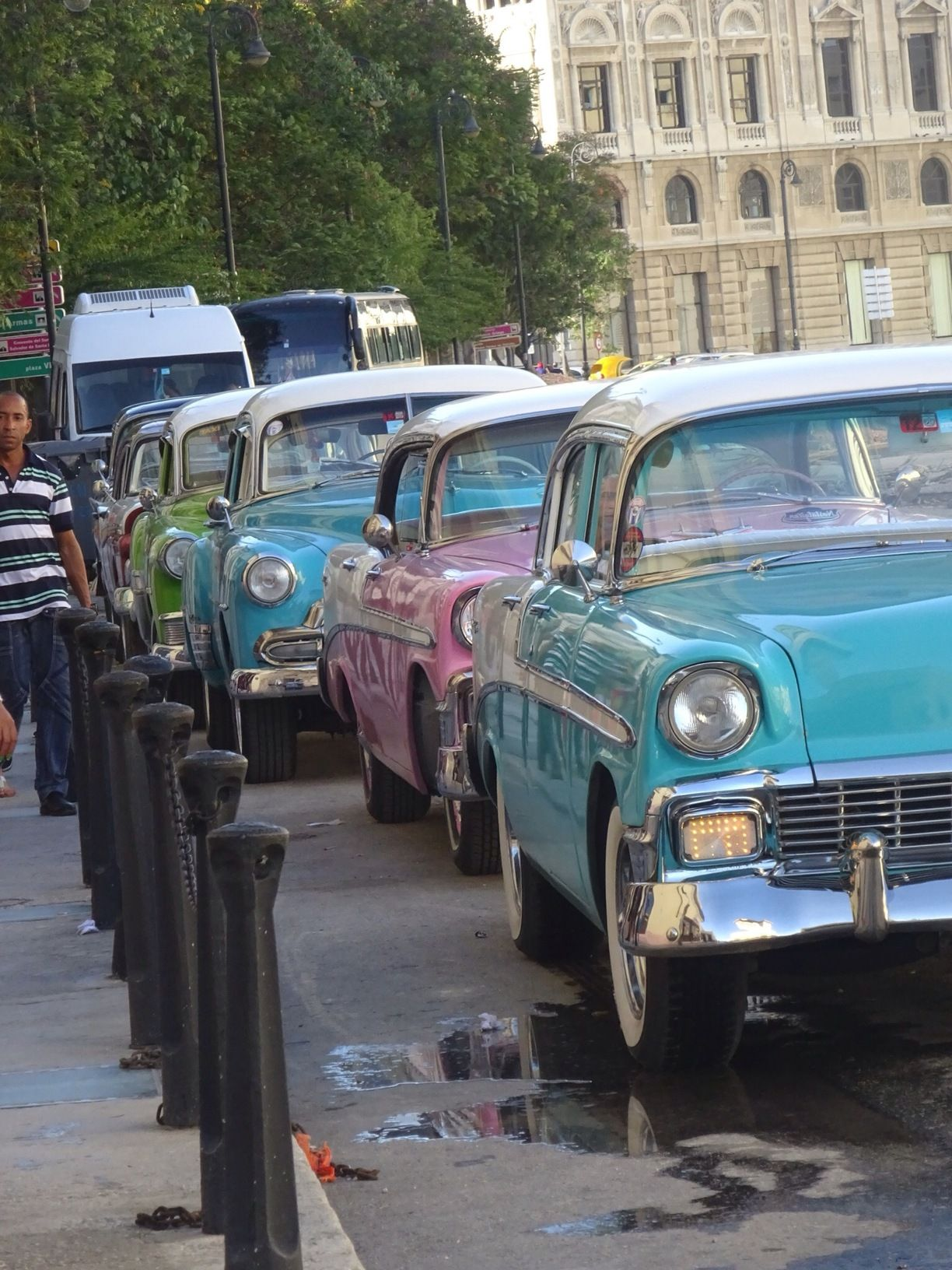 American cars from the 1950's . Cuba