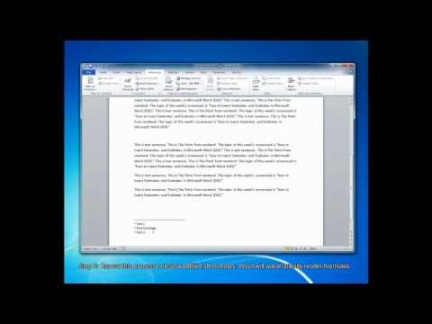 How To Create Footnotes and Endnotes in Microsoft Word 2010 - YouTube