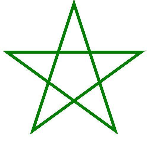 Plantillas Estrellas Con Cinco Puntas Imagui Pentagram Regular Polygon Polygon