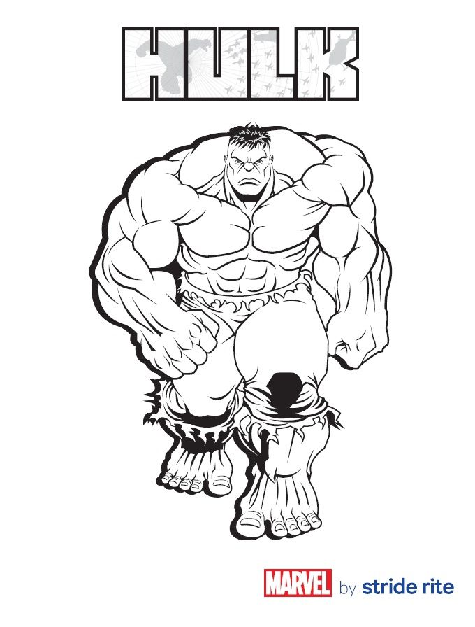 Hulk Coloring Page Marvel Coloring Hulk Coloring Pages