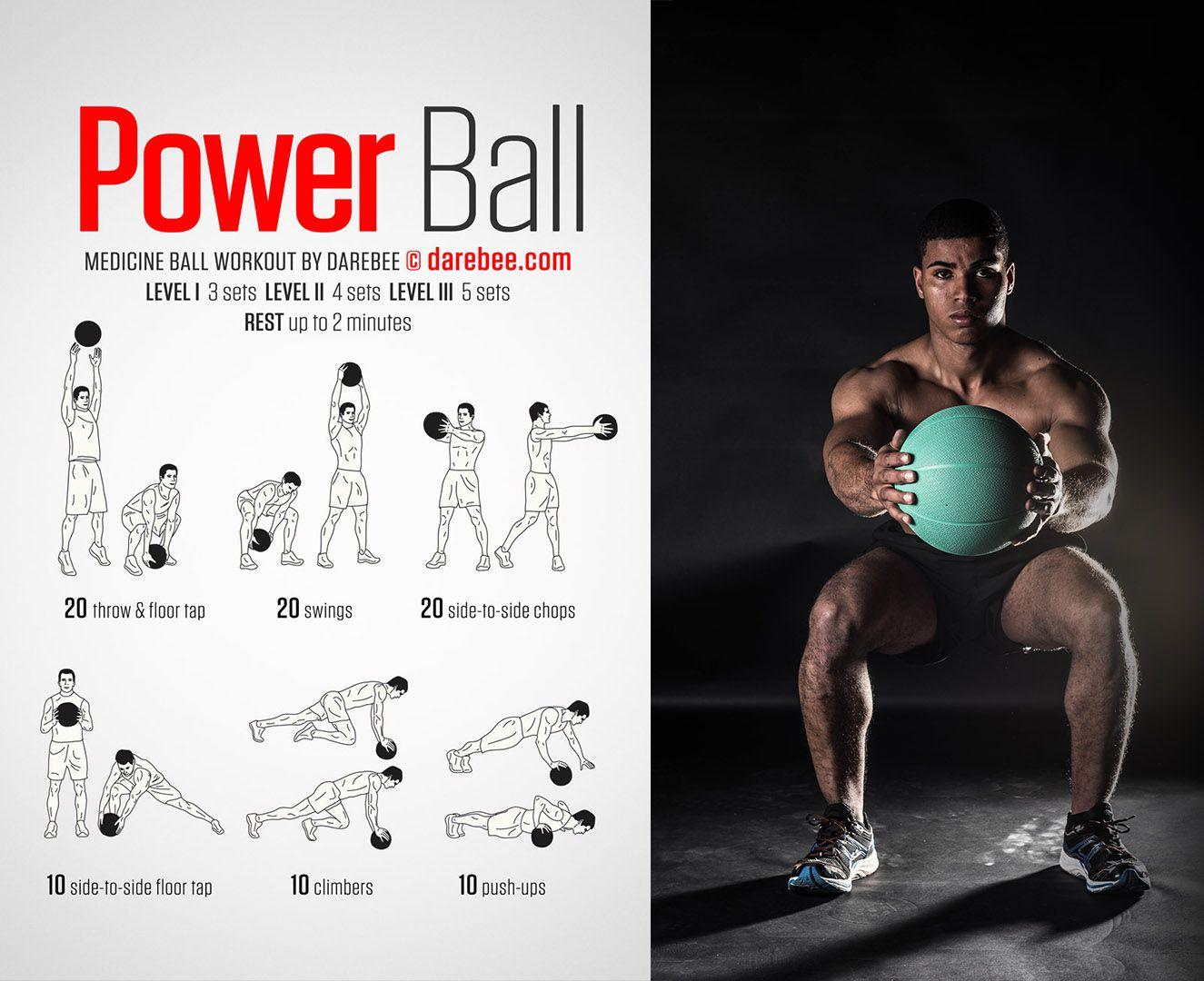 Medicine ball Fitnessbal oefeningen, Medicijnbal