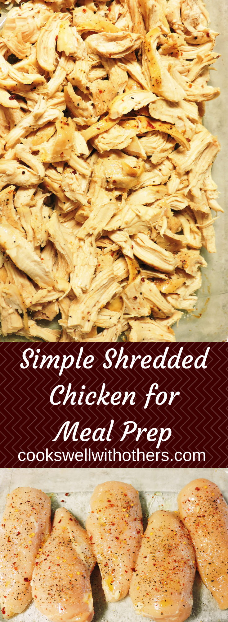 Simple Shredded Chicken for Meal Prep images