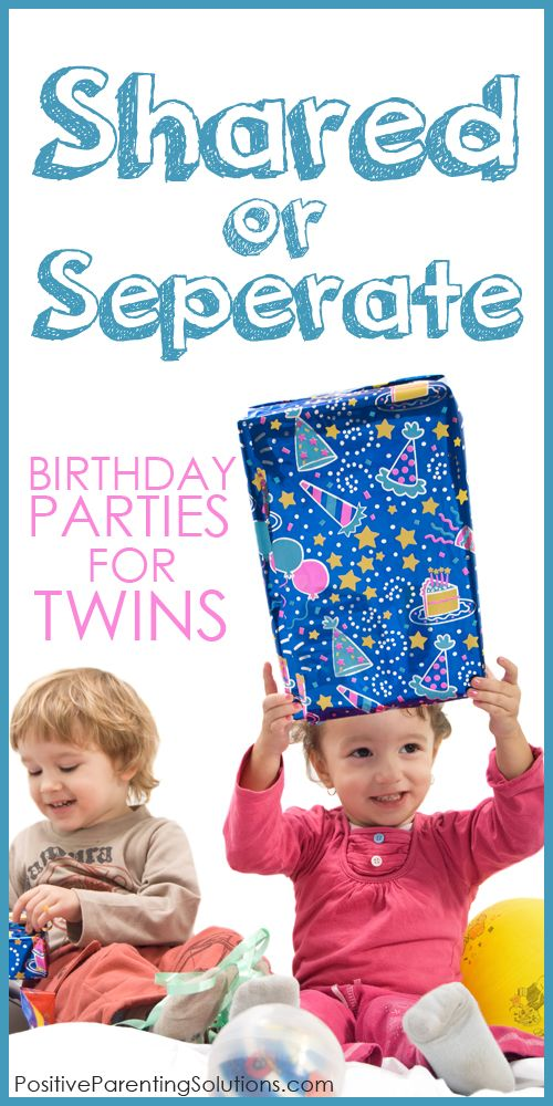 A Birthday Party For Twins: Shared Or Separate? http://www.positiveparentingsolutions.com/parenting/a-birthday-party-for-twins-shared-or-separate
