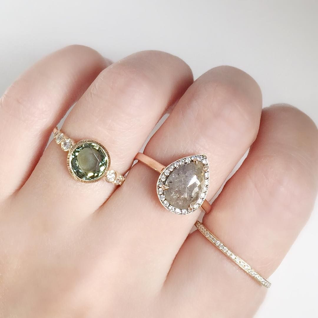 Adding a little spring to our step with our Aurora Ring set with a ...