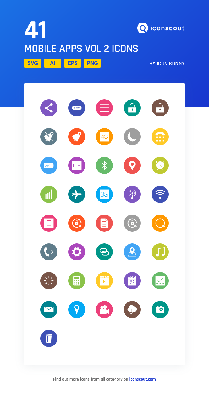 Download Mobile Apps Vol 2 Icon pack Available in SVG