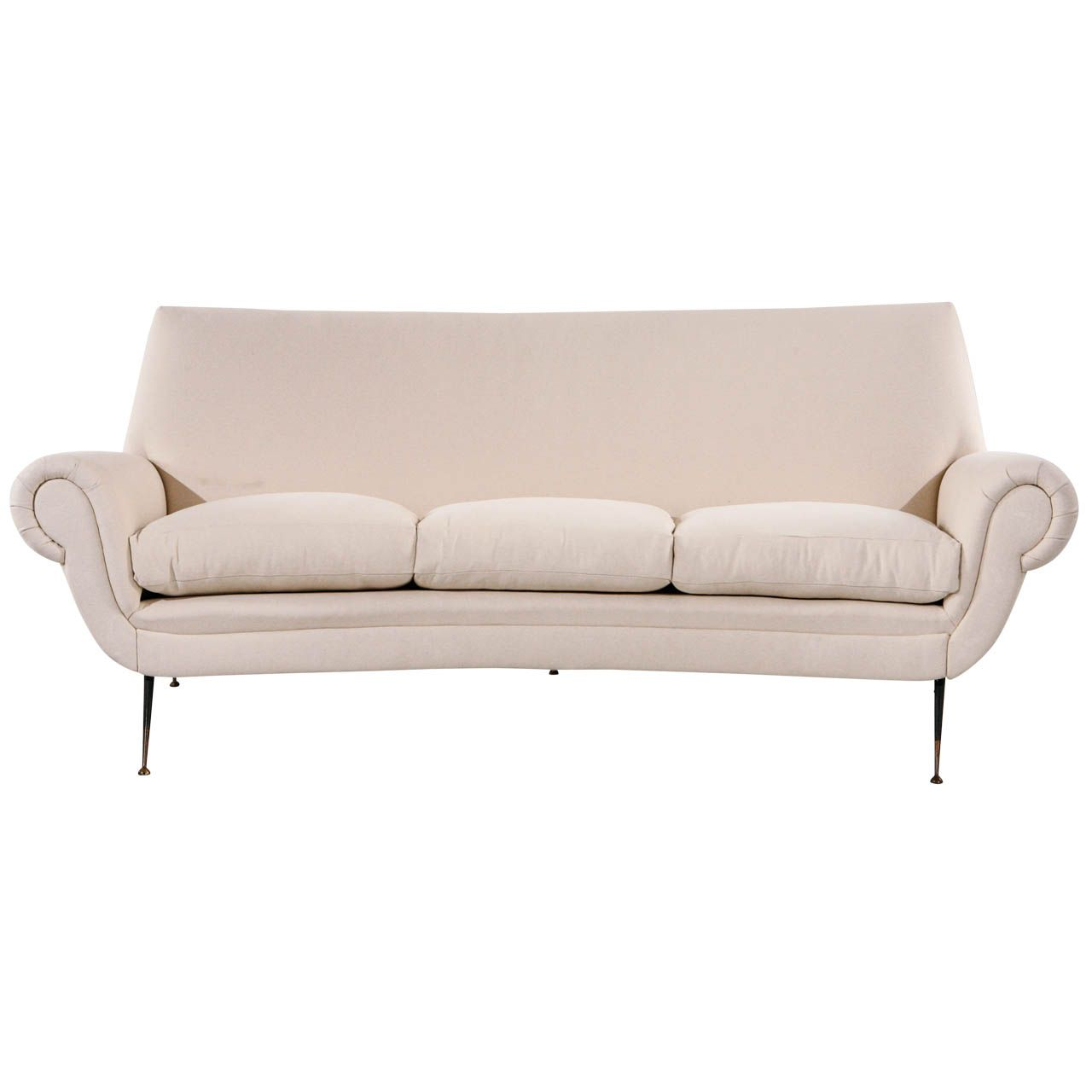 Mid-Century Italian Curved Back Sofa | From A Unique Collection Of Antique  And Modern