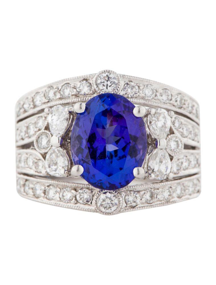 2.00ctw Tanzanite and Diamond Ring - Fine Jewelry - FJR21078 | The RealReal