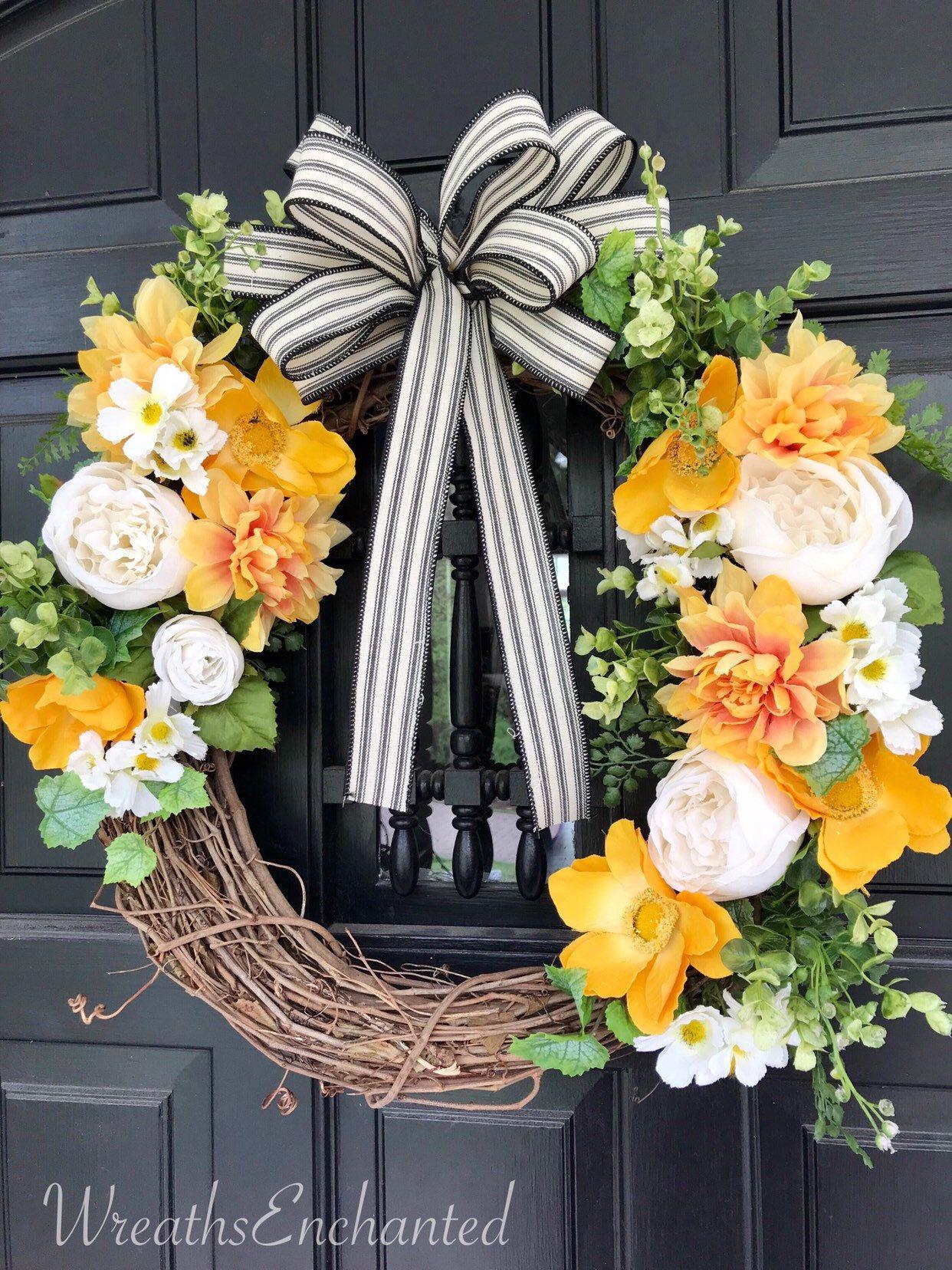 inspired wreath summer wreath everyday wreath Rae Dunn Wreath spring wreath