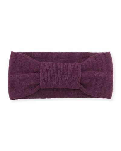 Cashmere Knotted Headband, Eggplant