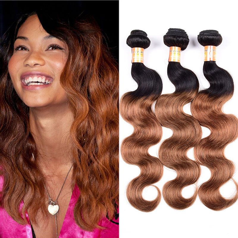 Brazilian Ombre 2Tone Body Wave Hair Wefts 300g Brazilian