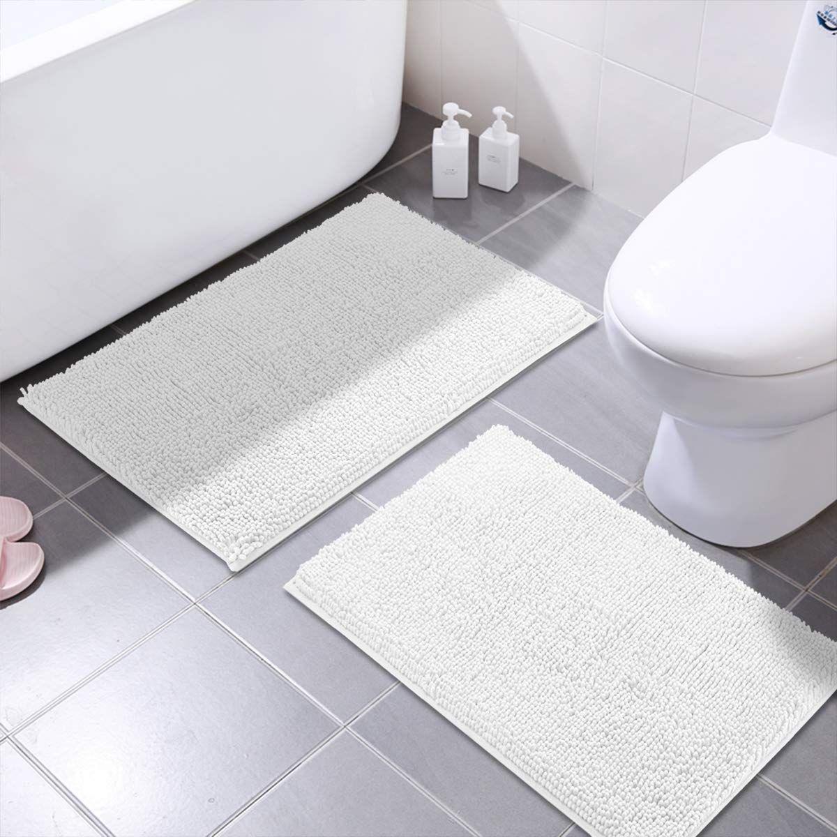 Mayshine Bath Mats For Bathroom Rugs Non Slip Machine Washable Soft Microfiber 2 Pack 20 32 Inches Read More Revie Washable Bath Mat Shower Mat Bathroom Rugs [ 1200 x 1200 Pixel ]