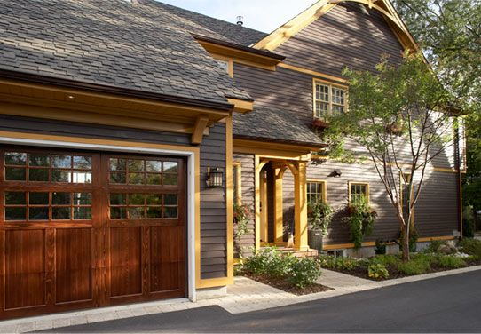 Maibec Wood Siding Used Rabbeted Bevel Siding White Cedar Shingles And Mouldings House Exterior Residential Country Style Homes
