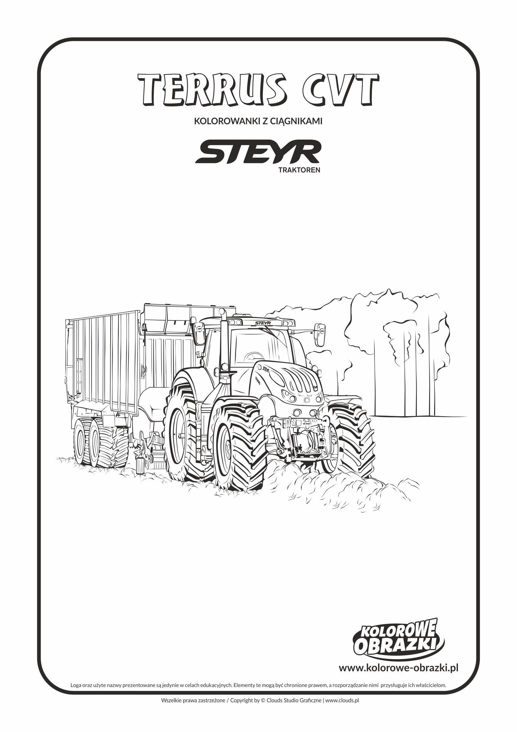 Steyr Terrus Cvt Ciagniki I Maszyny Rolnicze Kolorowanki Dla Dzieci Steyr Lol Pony