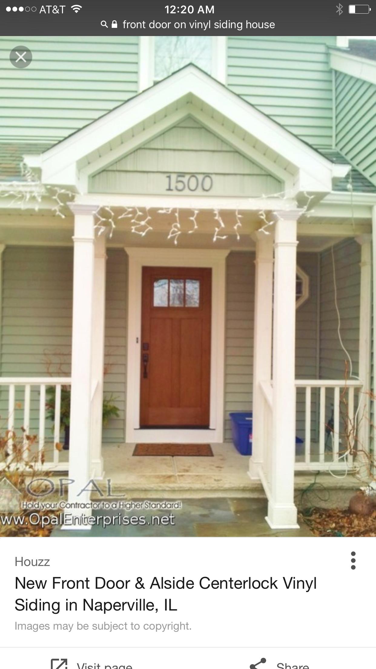Pin By Kate Elliott On Home Decor Tips Vinyl Siding Front Door Exterior House Renovation