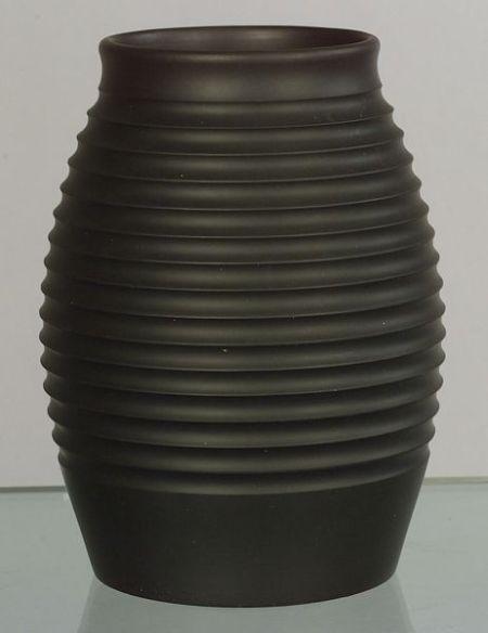 Keith Murray Wedgwood Black Basalt Vase Ca 1940 Miscellaneous