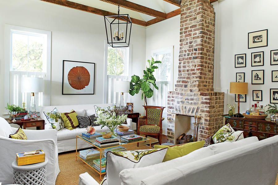 This 1930's Charleston Cottage Gets An Incredible Makeover New 1930S Interior Design Living Room Inspiration Design