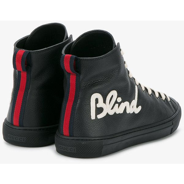 8268cf77fcee Gucci Blind for Love sneakers ( 590) ❤ liked on Polyvore featuring men s  fashion