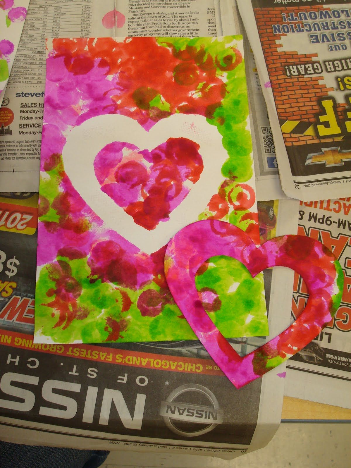 Trinity Preschool Mount Prospect Hearts Valentine S Day Preschool Art
