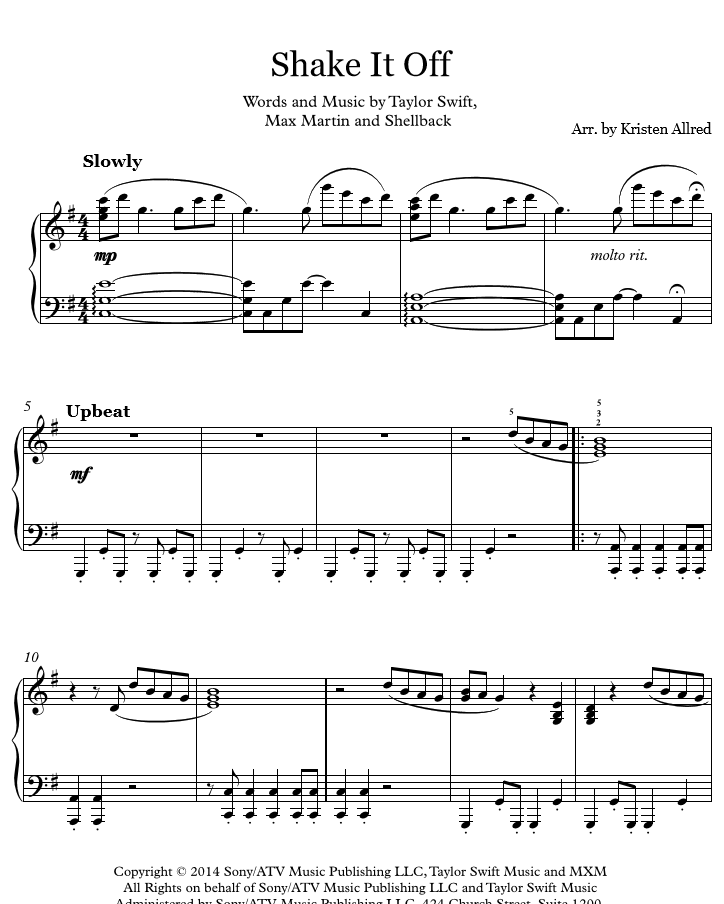 60 Best All Sheet Music By Kristen Allred Images On